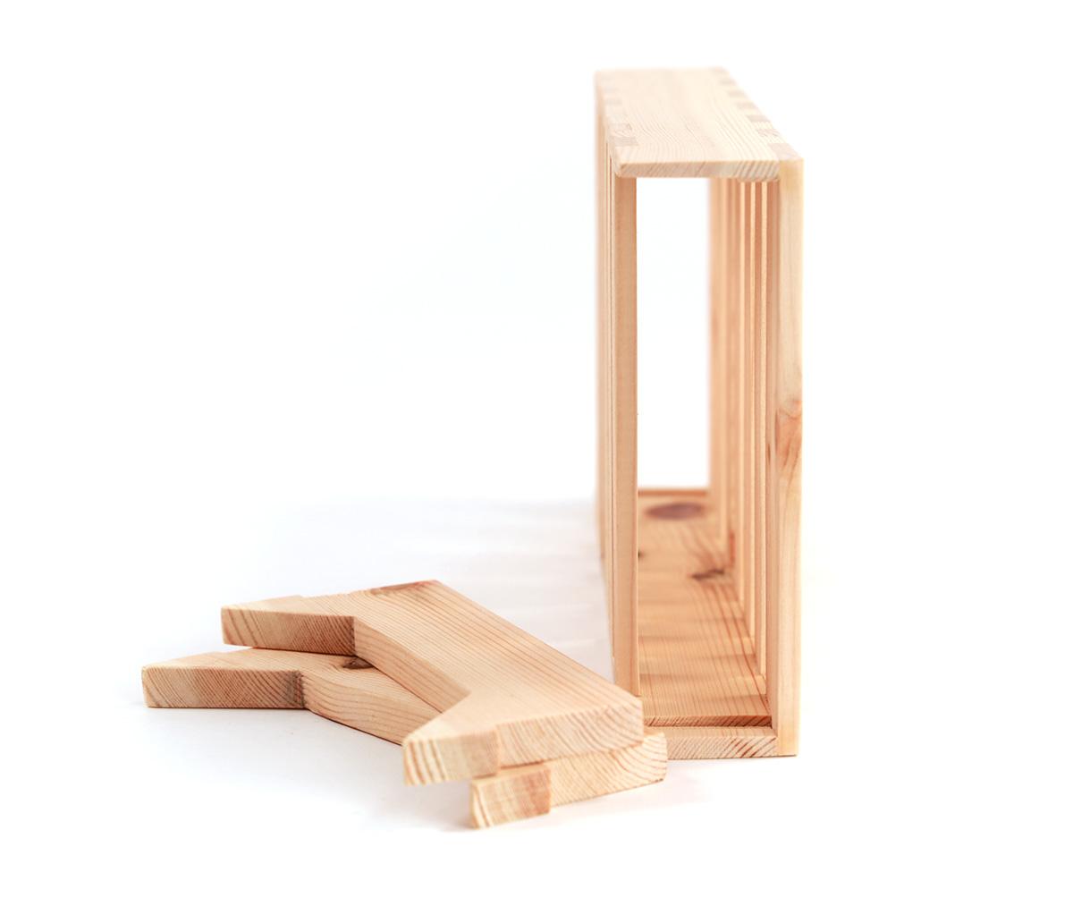 cajita de juego gato artesanal madera sostenible