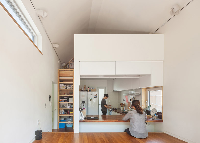 Vista de la sala de la casa de los arquitectos obba