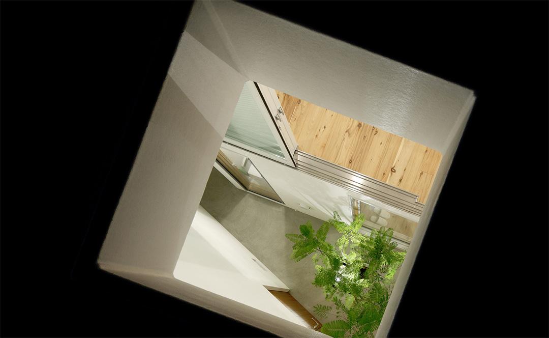 Abertura en el techo para el riego de plantas