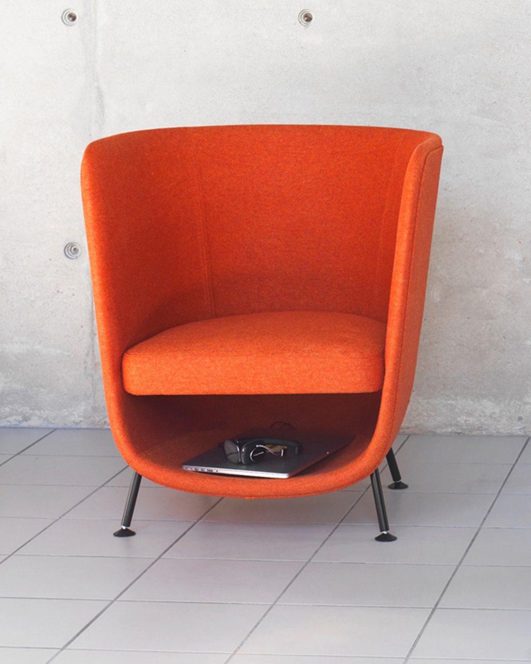 sillon pocket chair de color naranja