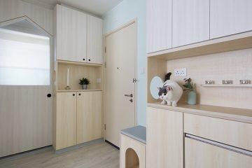 pethouse-comedor-gato en le mueble comedor